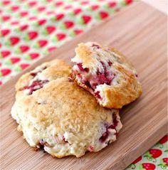 strawberry rhubarb drop scones recipe