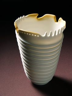 Ceramics by Rolf Bartz at Studiopottery.co.uk - 2006, Seashell study 3-001 Height 15cm. Width 12cm.
