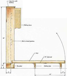"""Explore our web site for additional relevant information on """"murphy bed diy"""". It is actually an outstanding location to read more. Build A Murphy Bed, Murphy Bed Plans, Woodworking Jigs, Woodworking Projects, Camas Murphy, Fold Down Beds, Murphy-bett Ikea, Hideaway Bed, Space Saving Beds"""