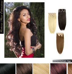 26 inch (65cm) long DOUBLE WEFTED 260g. Full Head Clip In Human Hair Extensions