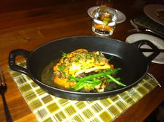 Yew @Four Seasons Hotel Vancouver. Arctic Char. Icy Waters Char, Crushed Yams, Green Beans, Wild Mushrooms, Maple & Rosemary Brown Butter