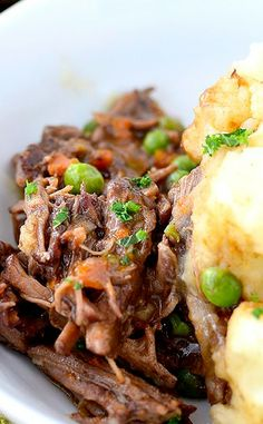 Wine-Braised Beef Shepard Pie. Paul loved this as Irish Stew without the potato topper.