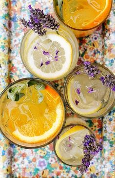 Citrus and Herb Vodka Tonics