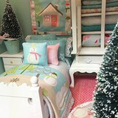 Custom Order-Debbie Ulmer Aqua Bedding Set by RibbonwoodCottage Aqua Bedding, Pink Trees, Pink Pillows, Victorian Dollhouse, Sewing Dolls, Shabby Chic Style, Bed Sizes, Flat Sheets, Sheet Sets