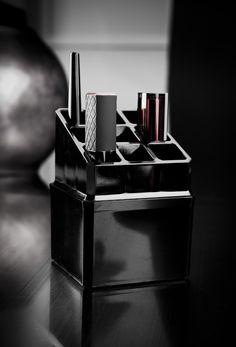 Coffret porte-rouges à lèvres, coloris noir