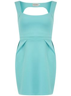 Blue cut out dress from Dorothy Perkins. #aquabridesmaid #weddingstyle