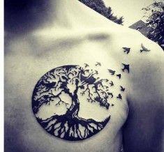neck tree of life tattoo