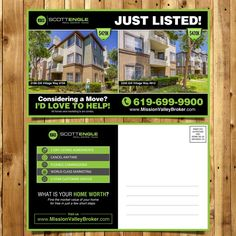 Real Estate Just Listed Postcard by djokosoe
