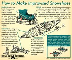 How to Make Improvised Snowshoes | The Art of Manliness