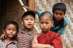 Local children in a traditional village in the area around Kyaukme, Myanmar / Burma