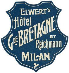 Hotel G de Bretagne - Art of the Luggage Label by Tom Schifanella