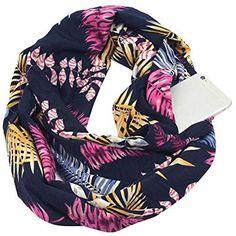 MRULIC Echarpes foulards femme Echarpe en Soie à la Mode pour Femmes Bleue  Marine à Pois c9adbeaea19