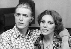 David & Angie Bowie, London, England, 4 May 1976.