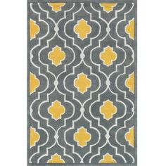 Alexander Home Hand-tufted Logan Grey/ Gold Wool Rug ($173) ❤ liked on Polyvore featuring home, rugs, patterned rugs, textured wool rug, wool rugs, non skid rugs and non skid area rugs
