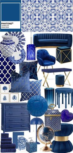 pantone 2020 classic blue decor Decor blue Suéter Azul: Cor do ano 2020 - Pantone Classic Blue Pantone Azul, Paleta Pantone, Pantone 2020, Pantone Color, Blue Home Decor, Classic Home Decor, Blue Colour Palette, Color Azul, Home Decor