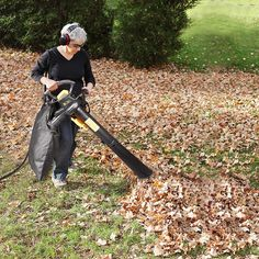 Leaf Blower Vacuum, TECCPO 12-Amp 250MPH 410CFM 3 in 1 Corded Electric Two-Speed Professional Sweeper/Vac/Mulcher with Powerful Motor and Metal Blade - TABV01G Garden Power Tools, Leaf Blower, Outdoor Power Equipment, Blade, Cord, Vacuums, Amp, Metal, Electric