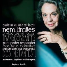 Você conhece a poetisa Sophia de Mello Breyner? Ela foi uma das mais importantes poetisas portuguesas do século XX e a primeira mulher portuguesa a receber o Prêmio Camões.