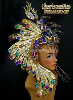 Charismatico Dancewear Store - Egyptian Fancy Gold Headdress, $180.00…