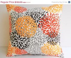 SALE Throw pillow cover one 20 x 20 Blooms by ThePillowPeople, $16.56