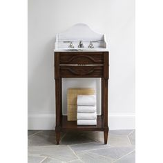 MINI SPINDLE SINK CHEST - Ambella Home  #Bathroom #Vanity #Storage #sinkchest