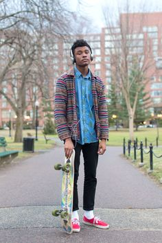 via portraitsofboston.com. Men's street style. Vans