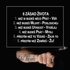 6 Zásad Života Deep Memes, Motivational Quotes, Inspirational Quotes, Story Quotes, True Words, Self Development, Monday Motivation, Bellisima, Quotations