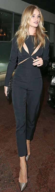 Rosie Huntington-Whiteley: Jumpsuit – Stella McCartney  Purse – Alaia  Shoes – Christian Louboutin