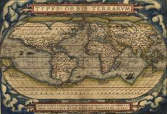 "Theatrum Orbis Terrarum - In 1570 created by Abraham Ortelius under the title Theatrum Orbis Terrarum, considered the ""first modern atlas"". Three Latin editions of this (besides a Dutch, a French and a German edition) appeared before the end of 1572; twenty-five editions came out before Ortelius' death in 1598; and several others were published subsequently, for the atlas continued to be in demand till about 1612. This is the world map from this atlas"