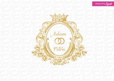 royal luxury wedding monogram-wedding logo-wedding crest-custom wedding monogram-signo-monograma-monograma de la boda-signo de la boda- by Linvit on Etsy