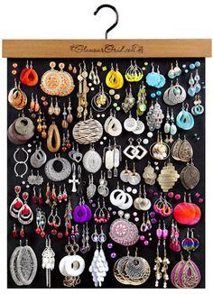 Diy Earring Holder, Jewelry Holder, Jewelry Box, Diy Earring Storage, Stud Earring Organizer, Lip Jewelry, Jewelry Cabinet, Hanging Jewelry Organizer, Jewelry Organization