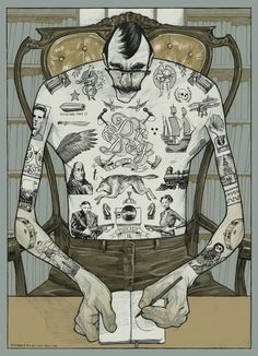 Tattooed Man by Rich Kelly