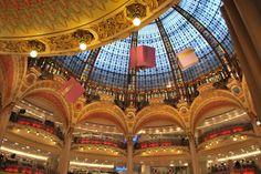 Galeries Lafayette - shopping paradise in Paris!
