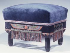 Victorian Egyptian Revival footstool, New York, c. 1880
