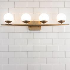 Linear Globe Bath Light - 4 Light natural_brass