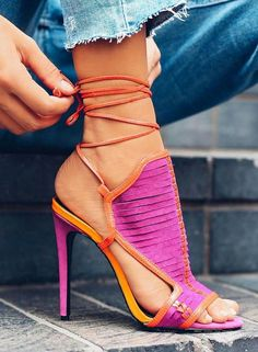 lace up shoes | pink heels