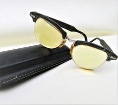 Vintage Cat Eye Glasses   1950s Glasses   Cat Eye Frames   Eye Glass Case – As Is by WhimzyThyme on Etsy