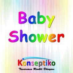 #konseptiko #babyshower Banner, Baby Shower, Birthday, Prints, Decor, Banner Stands, Babyshower, Birthdays, Decoration