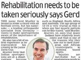 Dr. Gerd Mueller talks about the importance of rehabilitation...