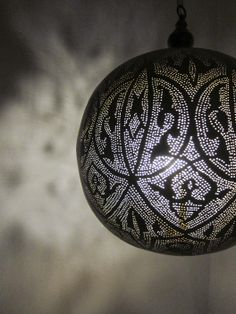 egyptian arabesque lamp from l'aviva home  Would be amazing for a dark, hammam-inspired bathroom