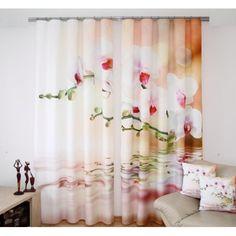 Záves - Rozkvitnutý konárik Curtains, Shower, Prints, Rain Shower Heads, Blinds, Showers, Draping, Picture Window Treatments, Window Treatments