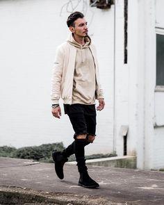 "#SMJSTYLE on Instagram: ""Beige. Jacket @manieredevoir Jeans @smjstyle.shop - #smjstyle #manieredevoir #styleiswhat Snapchat SergiuJurca """