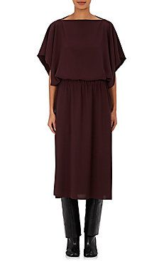 Crepe Blouson Dress