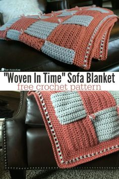 We are finally ready for part THREE of the Woven In Time Sofa Blanket! Today we will learn how to assemble, add the border, and stabilize the blanket. Afghan Crochet Patterns, Crochet Blanket Patterns, Crochet Stitches, Knitting Patterns, Crochet Blankets, Crochet Afghans, Crochet Home, Crochet Baby, Free Crochet
