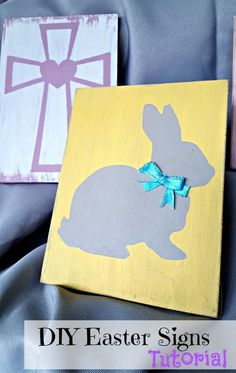 DIY Easter wood sign