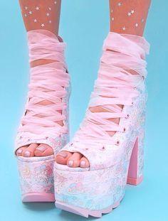 Y.R.U. - X Dolls Kill Little Twin Stars Ballet Bae Platforms