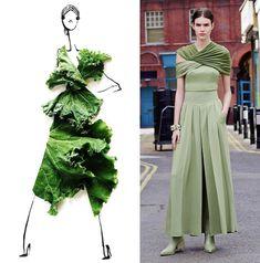 Gretchen Röehrs food fashion art lettuce /
