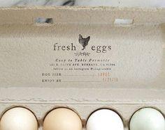Egg Carton Labels Chicken Rubber Stamp Custom Stamp