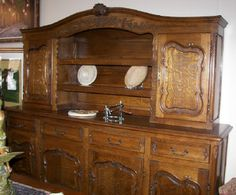 Massive French Style 2 piece sideboard at Village Antique Gallerie, in downtown Pierceton, Indiana.