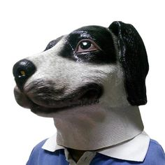 The Spotted Dog Mask,Novelty Creepy Halloween Costume Props,Interesting Birthday Party Mask,Latex Silicone Rubber Face Masks