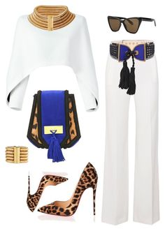 """""""Dressed to Impress"""" by delissa-thefashionista on Polyvore featuring Balmain, Roland Mouret, Givenchy and Christian Louboutin"""